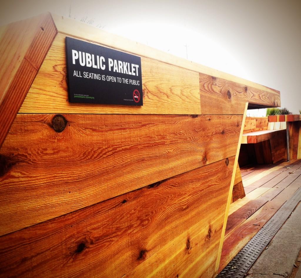 public parklet sign
