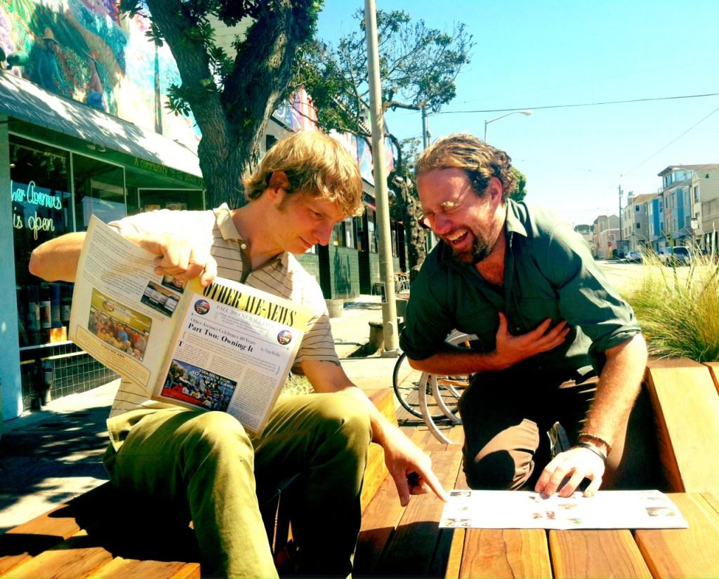 Workers Ryan & Chris taking a newsletter break.