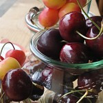 Rainier and Bing cherries